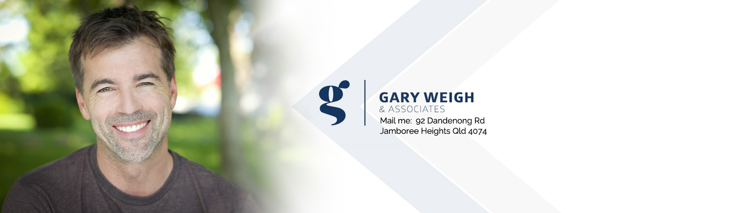 guy smiling at the camera with Gary Weigh & Associates logo