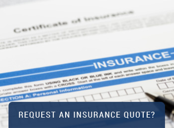 blank insurance form with Request An Insurance Quote caption